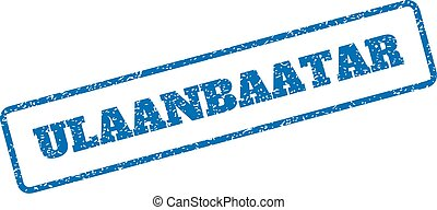 Ulaanbaatar Rubber Stamp - Blue rubber seal stamp with...