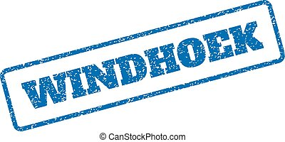Windhoek Rubber Stamp - Blue rubber seal stamp with Windhoek...