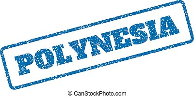 Polynesia Rubber Stamp - Blue rubber seal stamp with...