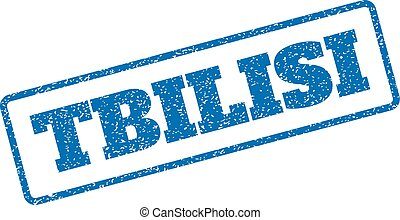 Tbilisi Rubber Stamp - Blue rubber seal stamp with Tbilisi...