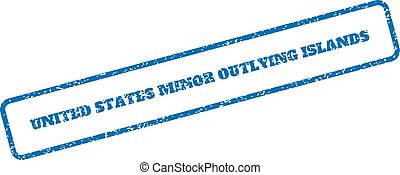 United States Minor Outlying Islands Rubber Stamp - Blue...