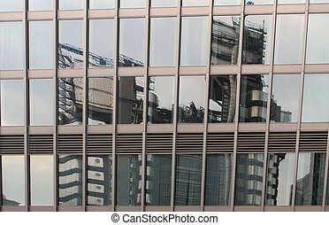 Reflections of LLoyds Building - Lloyds building reflected...