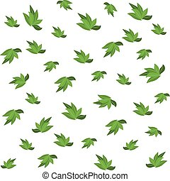 Green leaves seamless pattern for your wallpaper design.