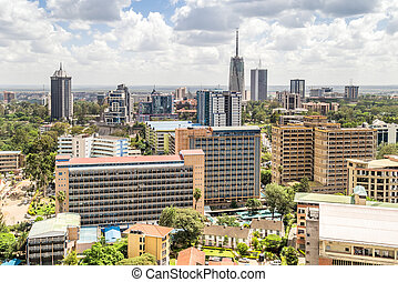 Nairobi downtown - capital city of Kenya - Nairobi city...