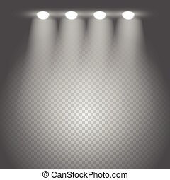 Bright stage vector illustration