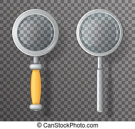 Magnifying Glass Loupe Icon Search Symbol 3d Realistic...