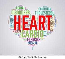 Wordcloud healthcare heart concept heart