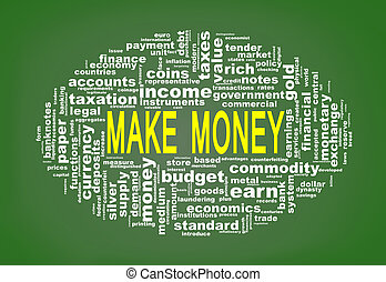 Wordcloud tags of make money