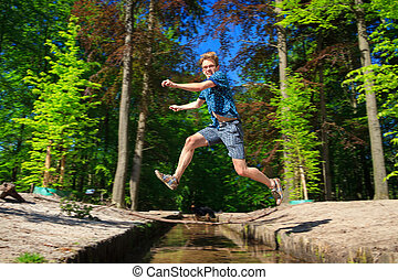 Big leap over the river of life - Mentally challenged, but...