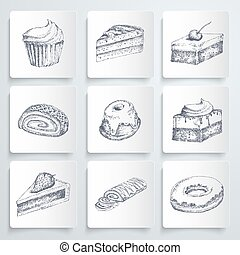 Sketch cake icons