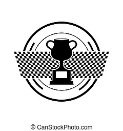 Cup trophy championship icon vector illustration graphic