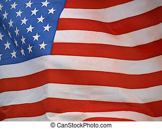 Stars and stripes banner - Stars and stripes on the American...