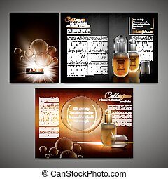 Brochure Template Image - Vector cosmetic brochure template....