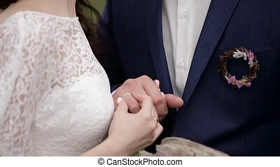 Boy and girl holding hands. Romantic love story.