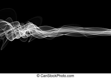 abstract white flame smoke frame over black background with copyspace for your text and design