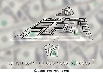 from business plans to obtaining profits, maze metaphor -...