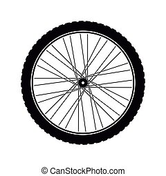 Bike wheel tire icon vector illustration graphic