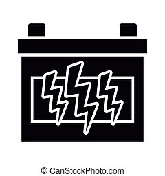 Car battery isolated icon vector illustration graphic