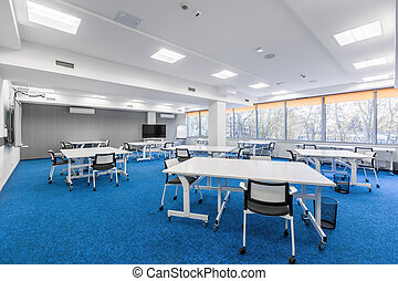 University communal study room - Bright university communal...