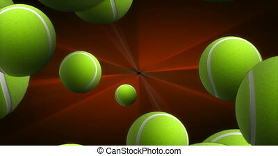Spawn of Tennis Balls Background 4K (seamless)