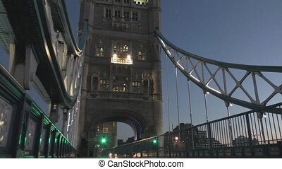 Tower Bridge at night. - London. England. United Kingdom....
