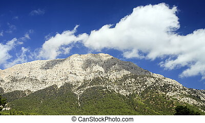 View of Tahtali Dag near the Cirali village, District of...