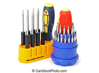 2 sets of screw-drivers - Set of screw-drivers for special...