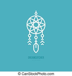 Dream Catcher Icon - Simple graphical illustration of dream...