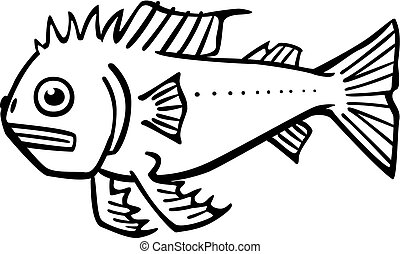 Imaginary Fish - Vector illustration of an imaginary fis.