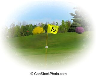 19th hole flagstick