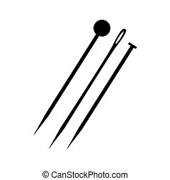 sewing needle vector illustration