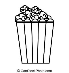 pop corn food icon vector illustration design