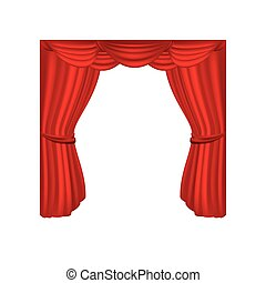 theater courtain show icon vector illustration design