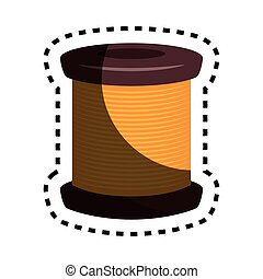 sewing threads isolated icon