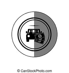 Rent a car business icon vector illustration graphic design