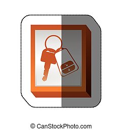 Remote control car key icon vector illustration graphic...
