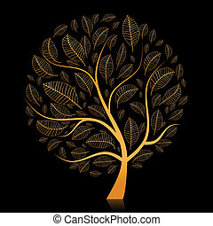 Golden tree beautiful for your design
