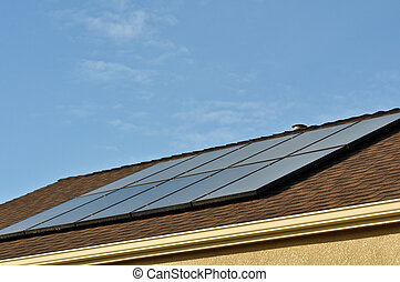 Solar Panel Roof on New Home
