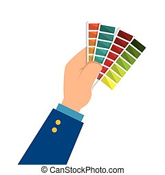colors pallette cards icon vector illustration design