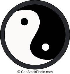 yang yin - vector illustration: yang yin symbol isolated on...