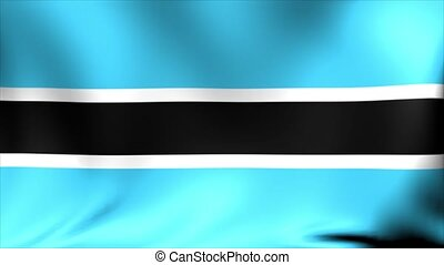 Botswana flag, new and different ripple effect. The is...