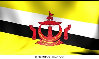Brunei national flag, new and different ripple effect. The...