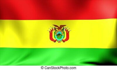 Bolivia national flag, new and different ripple effect. The...
