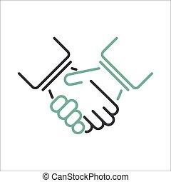 Shaking hands vector. - Shaking hands business handshake....