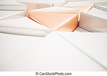 abstract triangular background. 3D Rendering