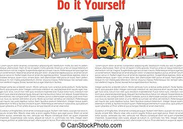 Building, home repair work tools and instruments - Repair,...