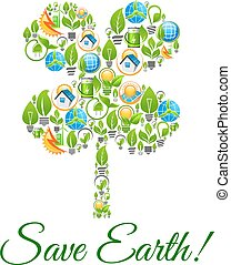 Save Earth environment protection concept