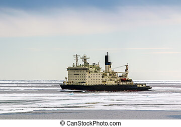 Nuclear-powered icebreaker - Russian icebreaker with nuclear...