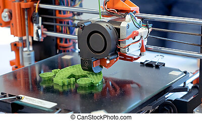 Three dimensional plastic 3d printer - Automatic three...