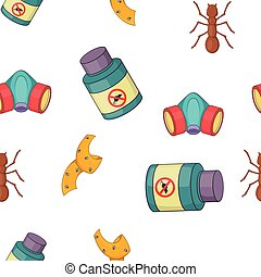 No insects pattern, cartoon style
